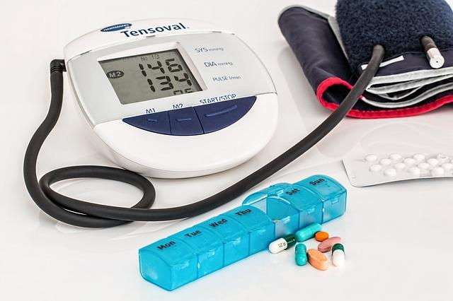 Blood pressure monitor and medication