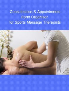 Consultations & Appointments Form Organiser for Sports Massage Therapists