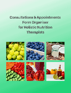 Consultations & Appointments Form Organiser for Holistic Nutrition Therapists