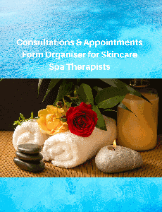 Consultations & Appoointments Form Organiser for Skincare Spa Therapists