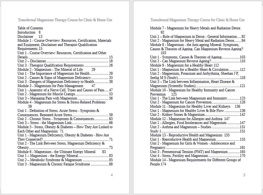 TMT Course Contents -1