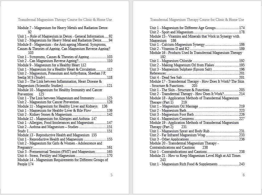 TMT Course Contents -2
